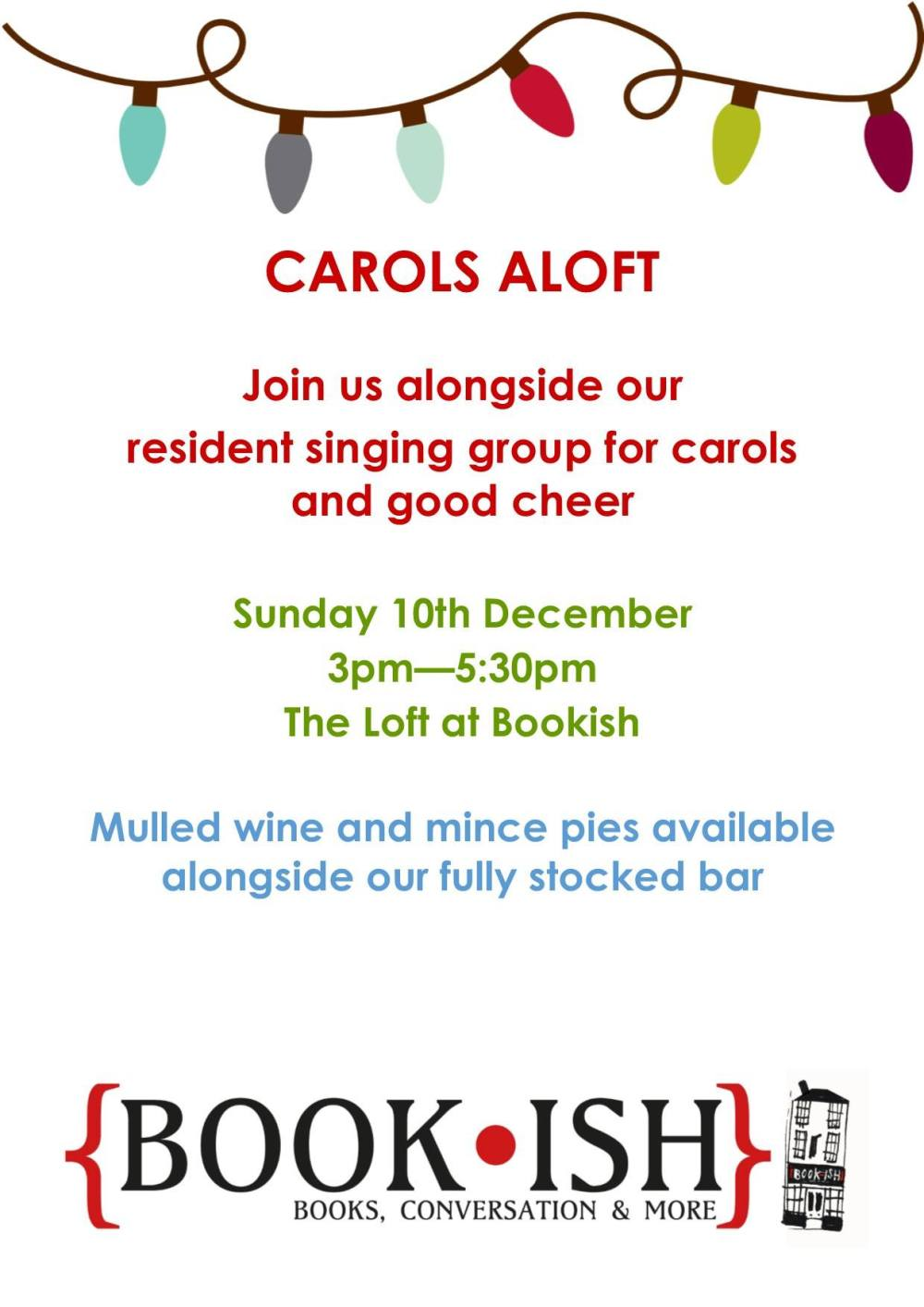 Carols at Bookish